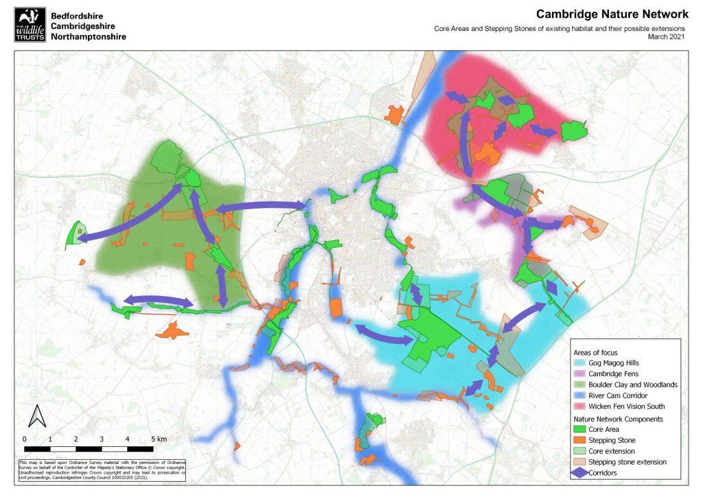 Cambridge Nature Network Area Map